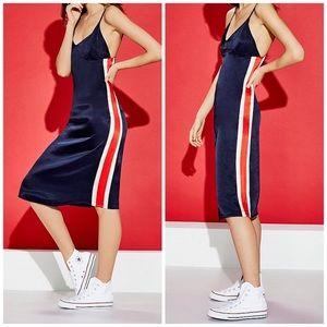 Sugarlips Athletic Side Stripe Midi Dress